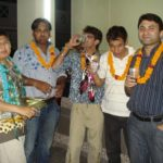 Theme party at office terrace