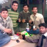 new year 2008 (left to right) me, virendra, saleem, goyal, debjyoti
