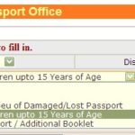 online passport application form for minor
