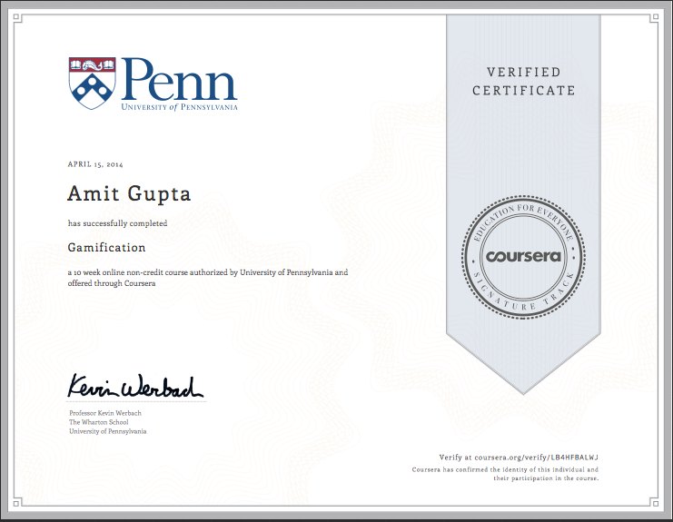 Gamification Coursera Penn University